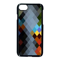 Diamond Abstract Background Background Of Diamonds In Colors Of Orange Yellow Green Blue And More Apple Iphone 7 Seamless Case (black) by Nexatart