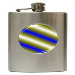 Color Diagonal Gradient Stripes Hip Flask (6 Oz) by Nexatart