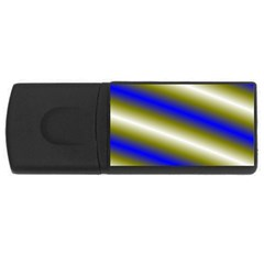 Color Diagonal Gradient Stripes Usb Flash Drive Rectangular (4 Gb) by Nexatart