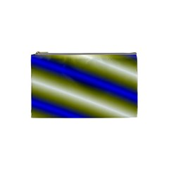 Color Diagonal Gradient Stripes Cosmetic Bag (small)  by Nexatart