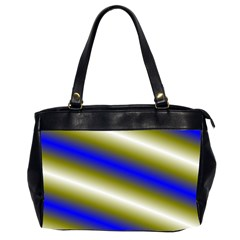 Color Diagonal Gradient Stripes Office Handbags (2 Sides)  by Nexatart