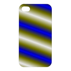 Color Diagonal Gradient Stripes Apple Iphone 4/4s Premium Hardshell Case