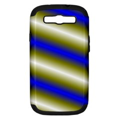 Color Diagonal Gradient Stripes Samsung Galaxy S Iii Hardshell Case (pc+silicone) by Nexatart