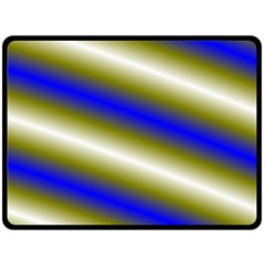 Color Diagonal Gradient Stripes Double Sided Fleece Blanket (large)  by Nexatart