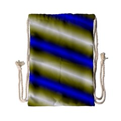 Color Diagonal Gradient Stripes Drawstring Bag (small) by Nexatart