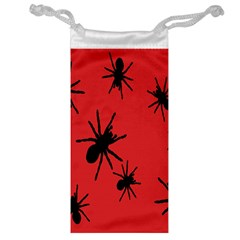 Illustration With Spiders Jewelry Bag by Nexatart