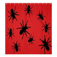 Illustration With Spiders Shower Curtain 66  X 72  (large)  by Nexatart