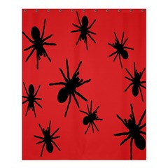 Illustration With Spiders Shower Curtain 60  X 72  (medium)  by Nexatart