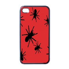 Illustration With Spiders Apple Iphone 4 Case (black) by Nexatart