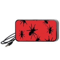 Illustration With Spiders Portable Speaker (black) by Nexatart
