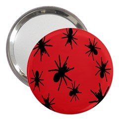 Illustration With Spiders 3  Handbag Mirrors by Nexatart