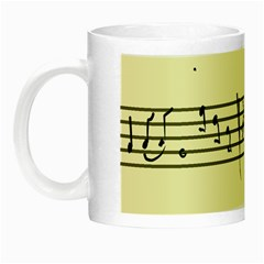 Music Notes On A Color Background Night Luminous Mugs