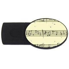 Music Notes On A Color Background Usb Flash Drive Oval (4 Gb) by Nexatart