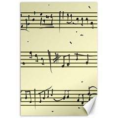 Music Notes On A Color Background Canvas 20  X 30   by Nexatart