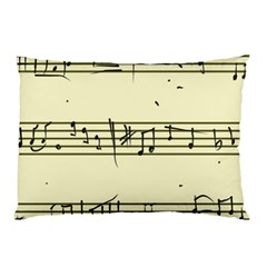 Music Notes On A Color Background Pillow Case by Nexatart
