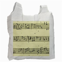 Music Notes On A Color Background Recycle Bag (one Side) by Nexatart