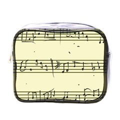 Music Notes On A Color Background Mini Toiletries Bags by Nexatart