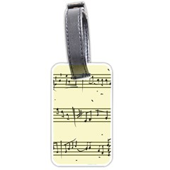 Music Notes On A Color Background Luggage Tags (one Side)  by Nexatart