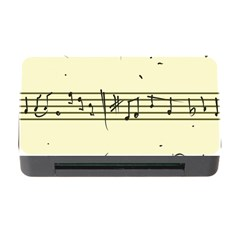 Music Notes On A Color Background Memory Card Reader With Cf by Nexatart