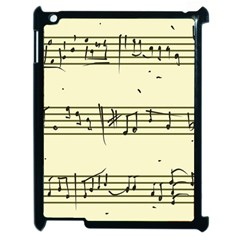 Music Notes On A Color Background Apple Ipad 2 Case (black) by Nexatart