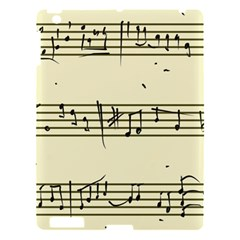 Music Notes On A Color Background Apple Ipad 3/4 Hardshell Case by Nexatart