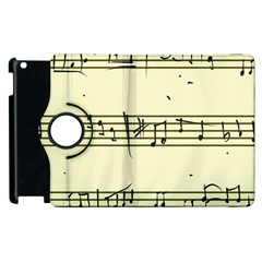 Music Notes On A Color Background Apple Ipad 2 Flip 360 Case by Nexatart