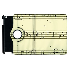 Music Notes On A Color Background Apple Ipad 3/4 Flip 360 Case by Nexatart