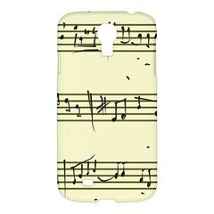 Music Notes On A Color Background Samsung Galaxy S4 I9500/i9505 Hardshell Case by Nexatart