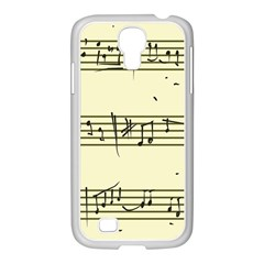 Music Notes On A Color Background Samsung Galaxy S4 I9500/ I9505 Case (white) by Nexatart