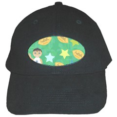 Football Kids Children Pattern Black Cap