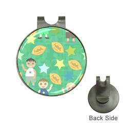 Football Kids Children Pattern Hat Clips With Golf Markers by Nexatart