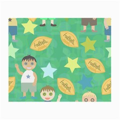 Football Kids Children Pattern Small Glasses Cloth by Nexatart