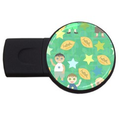 Football Kids Children Pattern Usb Flash Drive Round (4 Gb)