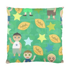 Football Kids Children Pattern Standard Cushion Case (one Side) by Nexatart