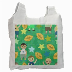 Football Kids Children Pattern Recycle Bag (one Side)