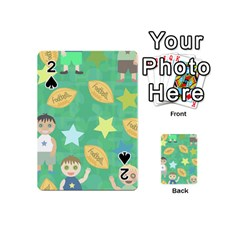 Football Kids Children Pattern Playing Cards 54 (mini)  by Nexatart