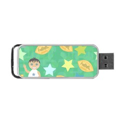 Football Kids Children Pattern Portable Usb Flash (one Side) by Nexatart