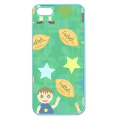 Football Kids Children Pattern Apple Seamless Iphone 5 Case (color) by Nexatart