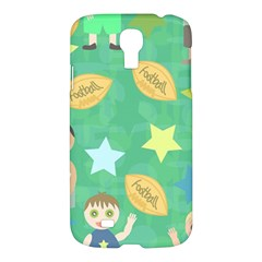 Football Kids Children Pattern Samsung Galaxy S4 I9500/i9505 Hardshell Case by Nexatart