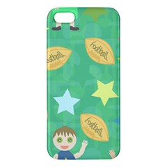 Football Kids Children Pattern Iphone 5s/ Se Premium Hardshell Case by Nexatart