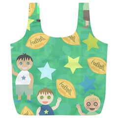 Football Kids Children Pattern Full Print Recycle Bags (l)  by Nexatart