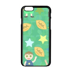 Football Kids Children Pattern Apple Iphone 6/6s Black Enamel Case by Nexatart