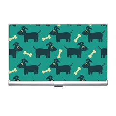 Happy Dogs Animals Pattern Business Card Holders by Nexatart