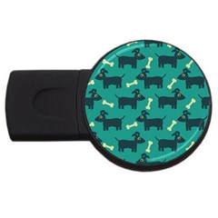 Happy Dogs Animals Pattern Usb Flash Drive Round (2 Gb)