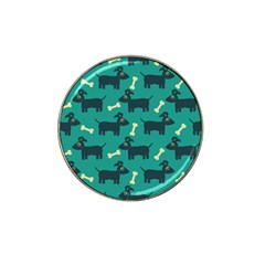 Happy Dogs Animals Pattern Hat Clip Ball Marker (4 Pack) by Nexatart