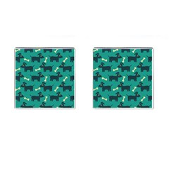 Happy Dogs Animals Pattern Cufflinks (square) by Nexatart