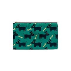 Happy Dogs Animals Pattern Cosmetic Bag (small)  by Nexatart