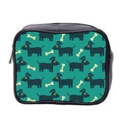 Happy Dogs Animals Pattern Mini Toiletries Bag 2-side