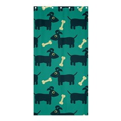 Happy Dogs Animals Pattern Shower Curtain 36  X 72  (stall)  by Nexatart