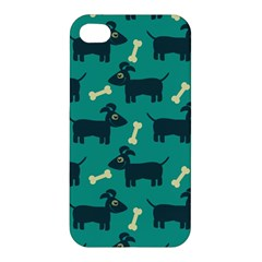 Happy Dogs Animals Pattern Apple Iphone 4/4s Premium Hardshell Case by Nexatart